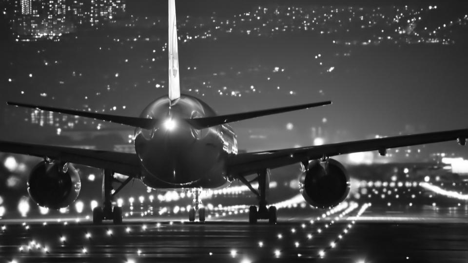 Plane on runway